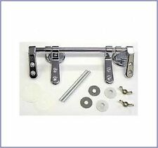 REPLACEMENT TRADITIONAL STANDARD WOOD TOILET SEAT BAR HINGE SET CHROME