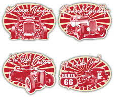 Hot rod sticker set custom rétro vintage classic car rat decal
