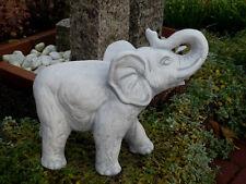 Steinfigur Elefanten Elefant mittel grau patiniert