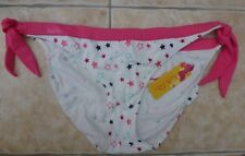 Panache Ladies Katie Price bikini bottoms white star print tie sides Size 18 uk