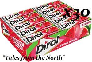 Chewing gum DIROL Watermelon Freshness, sugar free, 30 pcs x 13.6g (0.48 oz)
