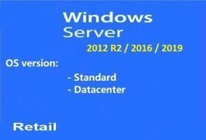 Ver. for/Standard/Datacenter& How to active win server 2012-2016-2019; USB; DL