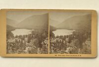 Echo Lake Franconia Notch Hampshire USA Fotografia Stereo Vintage Albumina