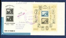 NICARAGUA # C509 -  S/S on Certified Cover to  USA - stamp-on-stamp 1962