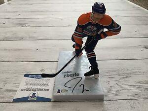 Jordan Eberle Signed Autographed Edmonton Oilers McFarlane Beckett BAS COA a
