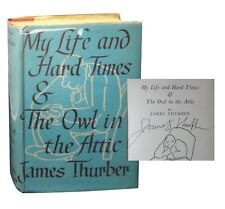 1st/1st My Life and Hard Times & The Owl in the Attic - James Thurber Signed