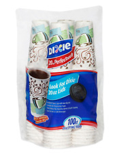 20 oz Dixie PerfecTouch Insulated Paper Hot Cold Coffee Cups Disposable Non Slip