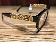 NEW AUTH*CHANEL*CH 3271A 501 53 3271 A 24K Gold Frame Eyeglasses RX