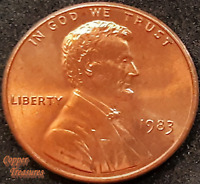 1983 P Lincoln Memorial Cent FRESH FROM BANK ROLL