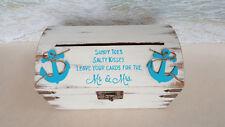 Nautical Mr Mrs Card Box -AnyColor- Beach Wedding Starfish Rustic Cardbox Anchor
