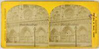 Notre-Dame De Paris Francia Foto Stereo PL55L1n Vintage Albumina c1870