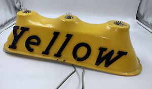 VINTAGE YELLOW TAXI CAB ROOF TOPPER LIGHT