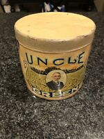 UNCLE GREEN 5 CENT CIGAR TOBACCO TIN - STATE OF PENNSYLVANIA ( RARE )