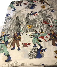 Ghostbusters Cartoon Twin Flat Sheet & Fitted VTG 1986 Marshmallow Man
