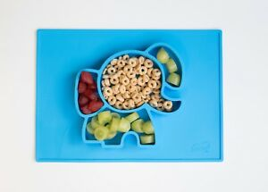 EllieMat elephant silicone placemat feeding Plate Developmental Baby Toddler