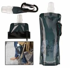 Folding Foldable Collapsible Water Plastic Bottle Bag For Outdoor Sport Black
