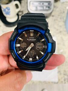 Casio G-Shock Analog Digital Solar Men's Watch GAS-100B1A2 Model 5445, Nice