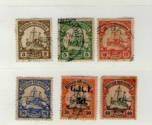 German New Guinea Kaiser's Yacht Stamps