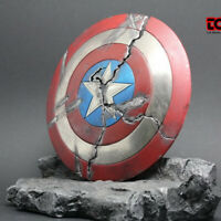 1/6 Scale America Captain Shield With Stand Battle Damaged In Stock Full Metal