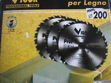 LAMA CIRCOLARE VIGOR LEGNO 24 DENTI WIDIA FORO 30 MM.DIAMETRO 200 MM