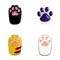WR_ Cool Enamel Cartoon Dog Cat Paw Brooch Pin Unisex Jewelry Gift Badge Decor L