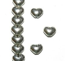 MBX7138L2 Antiqued Silver 10mm Heart Deco Metal Spacer Beads 250pc