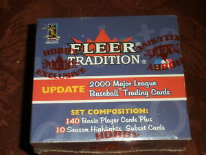 2000 Fleer Tradition Update Baseball Factory Set 150 Cards Mickey Mantle Jersey?