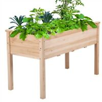 Garden Raised Bed Outdoor Planter Box with Legs for Vegetable/Flower/Herb Wooden