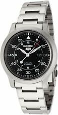 Seiko 5 Automatic Black Dial Silver Stainless Steel Mens Watch SNK809K1 RRP £169