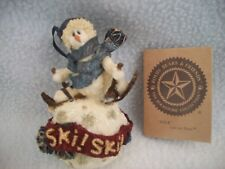 Boyds Bears & Friends Folkstone Lars.Ski, Ski, Ski Christmas Ornament 1995