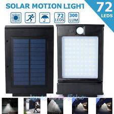 72 LED Solar Light Outdoor Garden Waterproof Wireless Security Motion Black USA