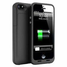 Black Charger Case Backup Battery For iPhone 5 5S SE