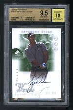 2001 SP AUTHENTIC GOLF TIGER WOODS ROOKIE RC AUTO /900 BGS 9.5 10
