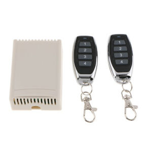433MHZ 4CH Channel DC 12V Wireless RF Remote Control Receiver Relay Switch