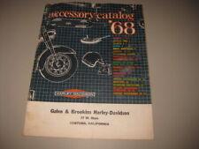 Vintage 1968 HARLEY DAVIDSON Motorcycle ACCESSORY CATALOG