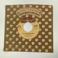 Mac Davis - It's Hard To Be Humble - 45 Single Record - Vinyl Excellent