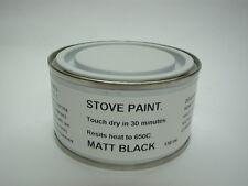 150ml Stove Paint Matt Black Heat Resistant 650C Wood Burner Grate Exhaust Oven