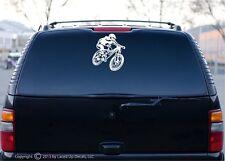 mountain biking xc downhill Car window decal sticker