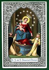 Santino ANTICO N.S DEL ROSARIO DI POMPEI HOLY CARD- IMAGE PIEUSE