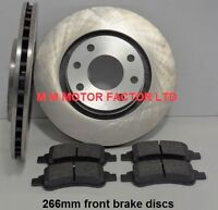FOR Peugeot 307 1.4, 1.6 & 2.0 HDi  2001-2008  Front Brake Discs & Pads  Vented 