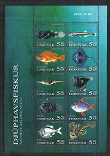 Faroe Is 2006 Deepwater Fish ss--Attractive Marine Life Topical (470) MNH
