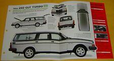 1981 82 1984 1983 Volvo 240 GLT Turbo 127 hp 2127cc FI IMP Info/Specs/photo 15x9
