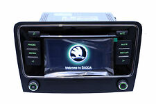 "OEM Skoda Superb RCD510 Radio 6 Disc CD MP3 Player 6.5"" Touchscreen with Code"