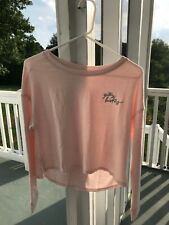GILLY HICKS Women's Sleep Pink Long Sleeve Scoop Neck Sweater Top Size XS