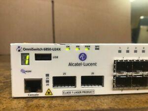 ALCATEL-LUCENT OmniSwitch 6850 OS6850-U24X SWITCH WITH PS-126W-AC POWER SUPPLY