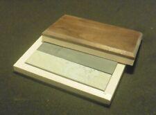 "Soft & Black Arkansas 4""X1""X1/2"" Sharpening Stones Set,Whetstones,wood box"
