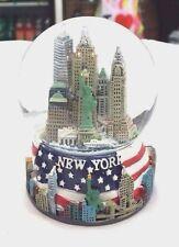 65 mm New York City Snow Globe, American Flag, NYC Souvenir