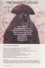 THE AMADEUS MOZART - symphonies 25 & 29, requiem, serenade  9  tracks  CD ALBUM