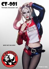 CAT TOYS 1/6 CT-001 Suicide Team Squad Harley Quinn Style Suit & Head Set New