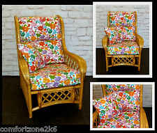 NEW FLORAL PRINT CUSHION COVERS CANE RATTAN WICKER CONSERVATORY GARDEN FURNITURE